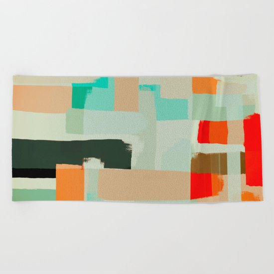 Abstract Painting No. 13 Beach Towel