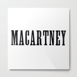 Macartney Metal Print