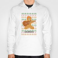 ed sheeran Hoodies featuring Gingerbread Ed by Laura Maria Designs