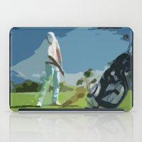golf iPad Cases featuring GOLF by aztosaha
