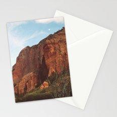 Full Moon Rising Over Kolob Canyons, Utah Stationery Cards