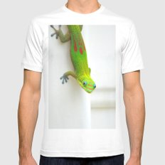 Gecko  White MEDIUM Mens Fitted Tee
