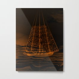 The Flying Dutchman / Legend, sepia Metal Print