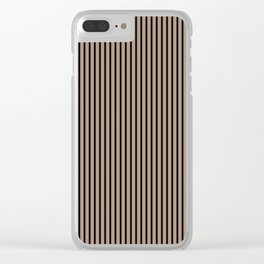 Warm Taupe and Black Stripes Clear iPhone Case