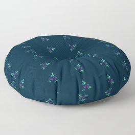 Wild blueberries Floor Pillow