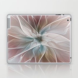 A Floral Friend, Abstract Fractal Art Laptop & iPad Skin