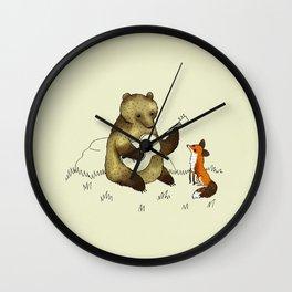 Bear & Fox Wall Clock