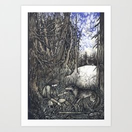 Mystery of death before us Art Print