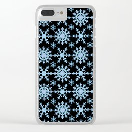 Let it Snow Mix 1 Midnight Version Clear iPhone Case