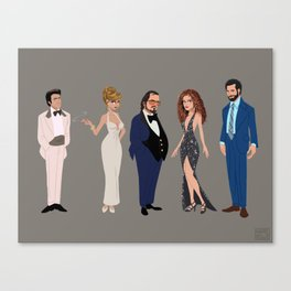 American Hustle Line Up Canvas Print