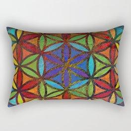 The Flower of Life (Sacred Geometry) 3 Rectangular Pillow