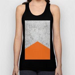 Concrete Arrow Orange #118 Unisex Tank Top
