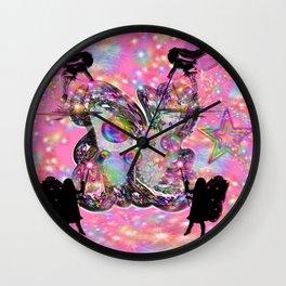 Clusters of Rainbows - Fairies Wall Clock
