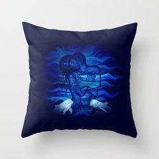 Passion act - pair with Dolphin pair Throw Pillow
