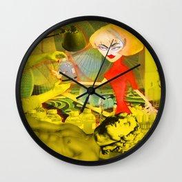 Atomic Age Blonde Scientist Wall Clock