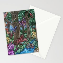 Creatures at Nite Stationery Cards