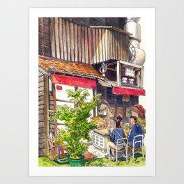 Japan series: Snack time in Hiroshima Art Print
