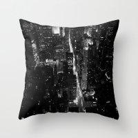 manhattan Throw Pillows featuring Manhattan by Anne Dante