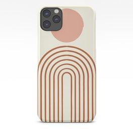 Full moon rainbow iPhone Case