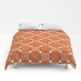 Red & Orange Circles Comforters