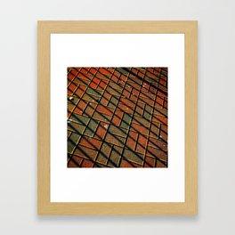 Brickline Framed Art Print
