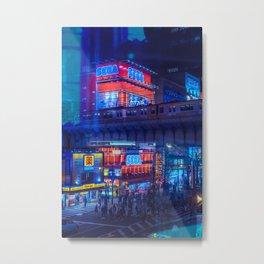 Tokyo Nights / Anime Town / Liam Wong Metal Print