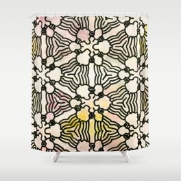 Floral Circuitry Shower Curtain