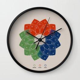 Harmony - Ayurveda Clock in Traditional Colors Wall Clock