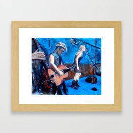 Rockabilly Musicians Framed Art Print