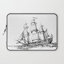 sailing ship . Home decor Graphicdesign Laptop Sleeve