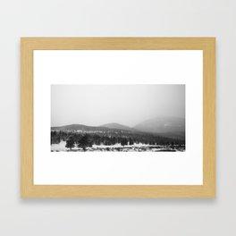 Colorado Winter Hills Framed Art Print
