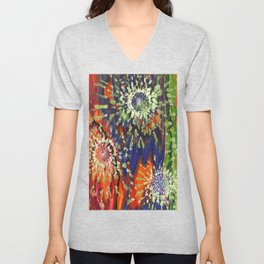 Induced Cosmic Revelations (Four Dreams, In Mutating Cycle) Unisex V-Neck