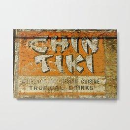 Chin Tiki Wall  Metal Print
