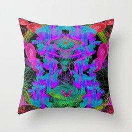 Jellyfish Warp Throw Pillow