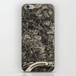 Vintage Map of The Shiloh Battlefield (1917) iPhone Skin