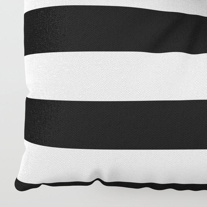 Stripe Black & White Horizontal Floor Pillow