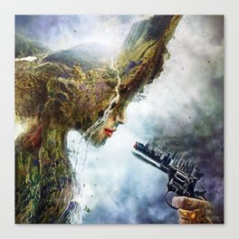 Mother nature is in War Canvas Print