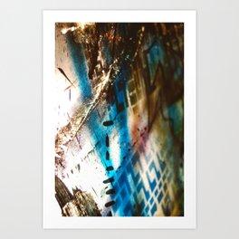 Retrollage 9.. Art Print