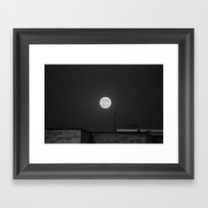 Lunar Eclipse (black and white) Framed Art Print