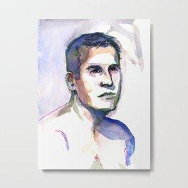 PATRICK, Semi-Nude Male by Frank-Joseph Metal Print