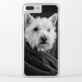 Portrait of a Westie Dog Clear iPhone Case