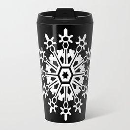 Snowflake Medallion B&W Travel Mug
