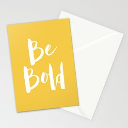Be Bold Quote - Yellow Stationery Cards