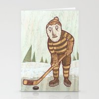 hockey Stationery Cards featuring Hockey Yeti by Kip Noschese