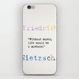 Friedrich Nietzsche quote 2 iPhone Skin