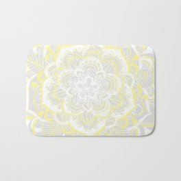 Woven Fantasy - Yellow, Grey & White Mandala Bath Mat
