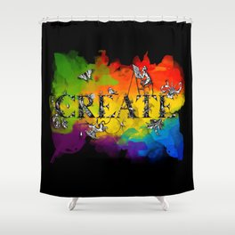 Create (black version) Shower Curtain