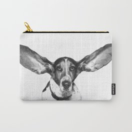 Black and White Dog Ears Carry-All Pouch