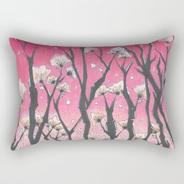 Pink Fields Rectangular Pillow