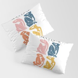 Abstract woman pastel color matisse woman artwork the cut outs Pillow Sham